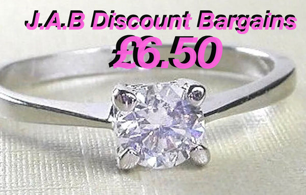 0.5ct Super Brilliant Round Cut Created Diamond 18K White Gold plated - JAB Discount Bargains
