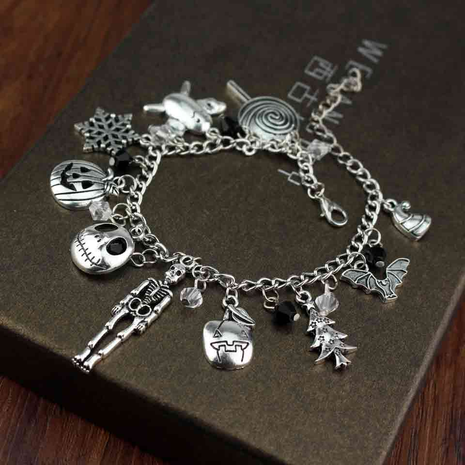 index heart bracelets stud girl squad black silver bracelet set tone charm