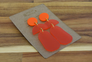 Half Moon Drop Acrylic Earrings