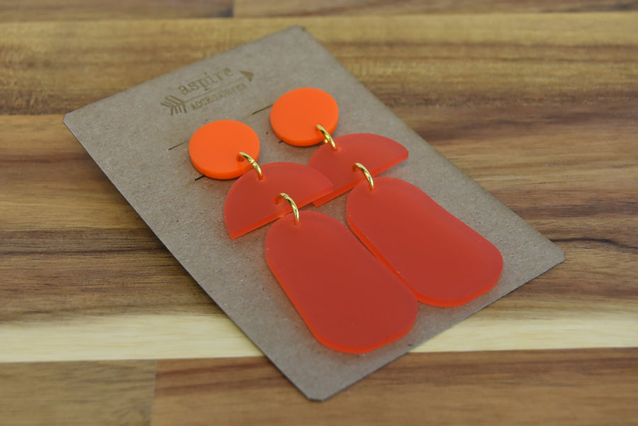 Acrylic Half Moon Drop Earrings