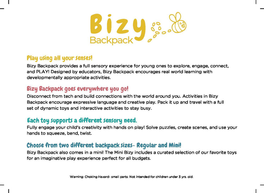 Bizy Backpack - Dinosaur