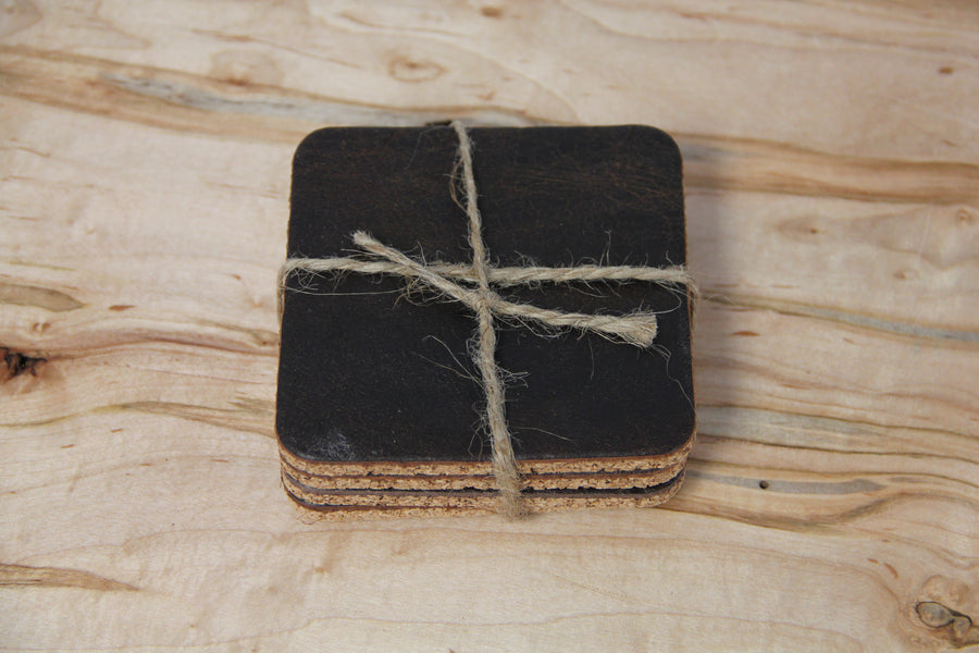 Coasters - Cork & Leather (Set 4)