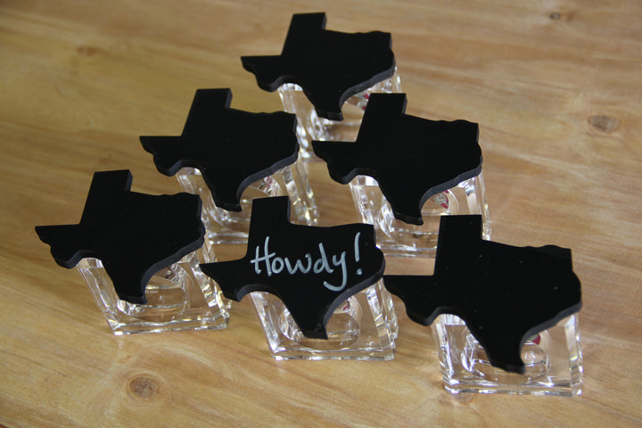 Texas State Chalkboard Napkin Rings (set of 6)