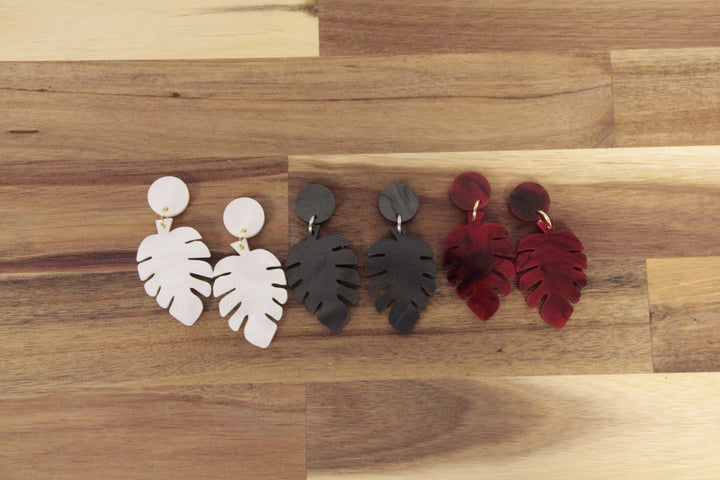 Leaf Acrylic Earrings