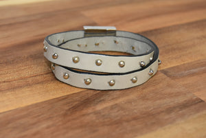 Double Wrap Spot Rivet Bracelet