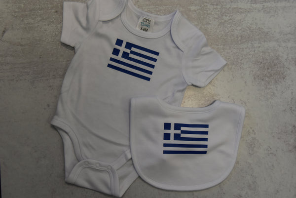 Onesie & Bib Set With Saying