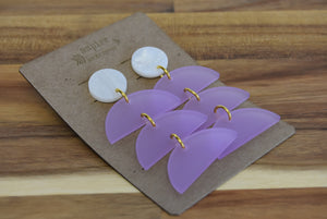 Acrylic Half Moon Earrings