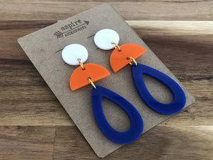GO 'STROS - Teardrop Acrylic Earrings