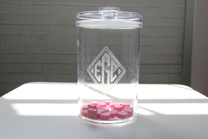 Acrylic Customized Candy Jar - 93oz