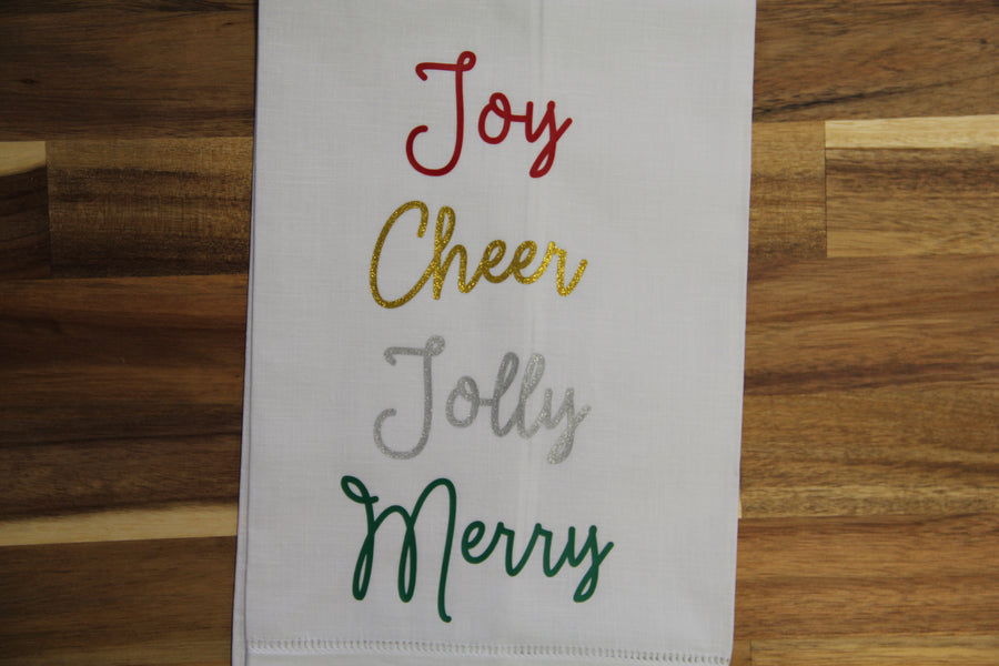 Linen Tea Towel - Holiday