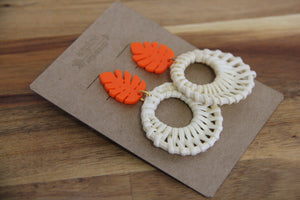 Acrylic Rattan Earrings
