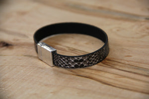 Snakeskin Leather Bracelet