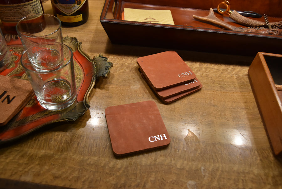 Coasters - Cork & Leather Custom (Set 4)