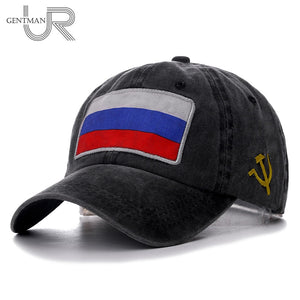 90b1417b9aa 2019 New Spring Summer Baseball Cap Russian Flag Cap High Quality Washed Cotton  Snapback Hat Cheap