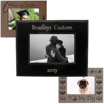Custom Laser Engraved Leatherette Picture Frames