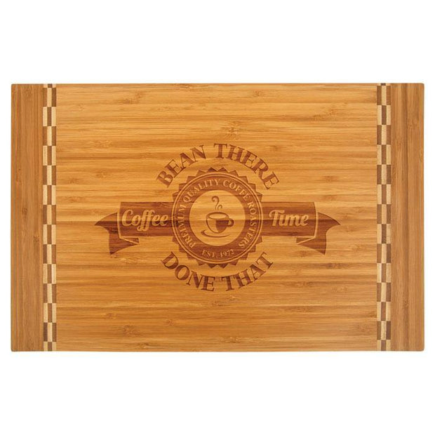 Customized Bamboo Cutting Board with Butcher Block Inlay