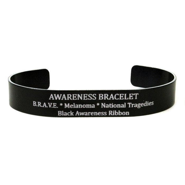 Black Ribbon Awareness Bracelet?id=6384158179439