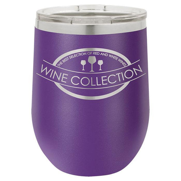 Purple Stainless Steel Engraved Wine Tumbler