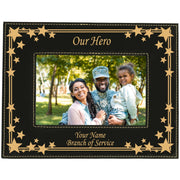 "Personalized Our Hero Picture Frame 5""X7"" Available in 2 Colors"