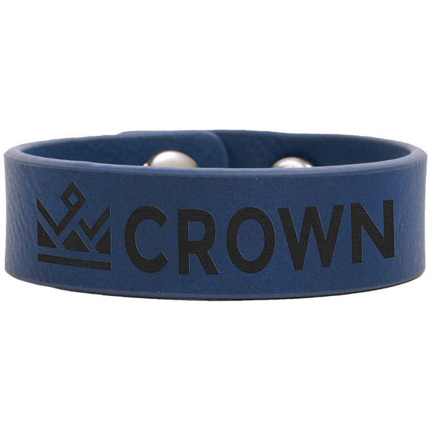 Personalized Blue Leather Bracelet
