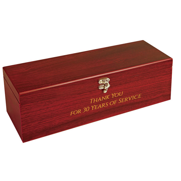 Engraved Wood Wine Box