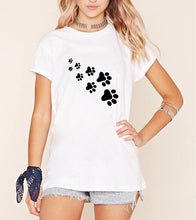 Cat Paws Casual Cotton T-shirt  for Women