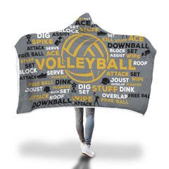 Awesome Volleyball Hooded Blanket - Gold