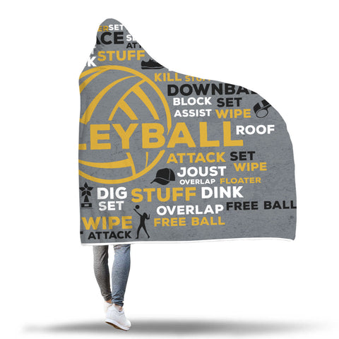 Awesome Volleyball Hooded Blanket