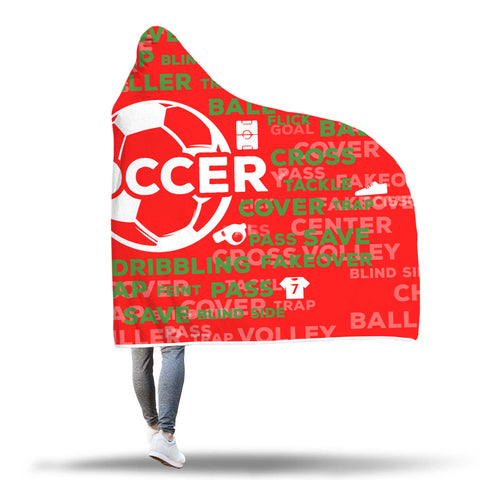 Soccer Hooded Blanket - Christmas Edition