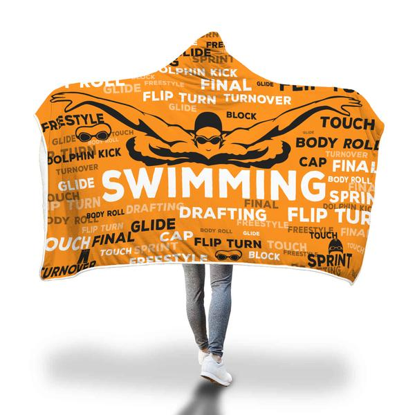 Swimming Hooded Blanket