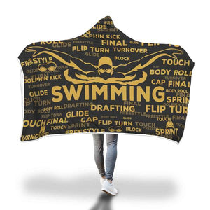 Swimming Youth Hooded Blanket