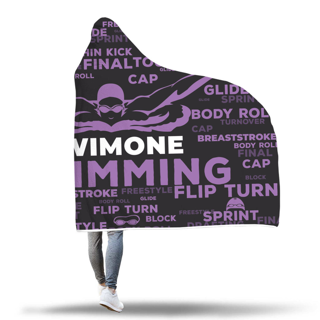 Swimone Swimming Custom Hooded Blanket