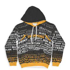 Swimming Hoodie - Black/Yellow