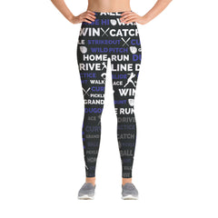 Softball Leggings - Black/Indigo