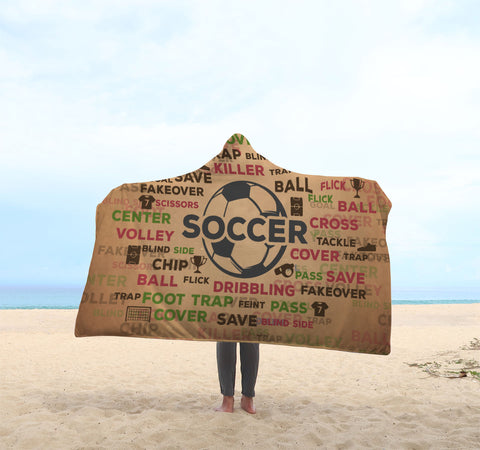 Soccer Hooded Blanket