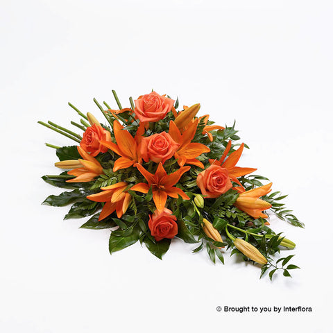 Rose and Lily Spray (Orange)