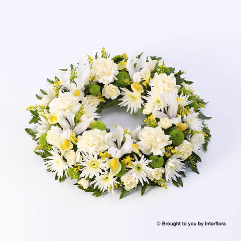 Classic Wreath (Yellow & Cream)