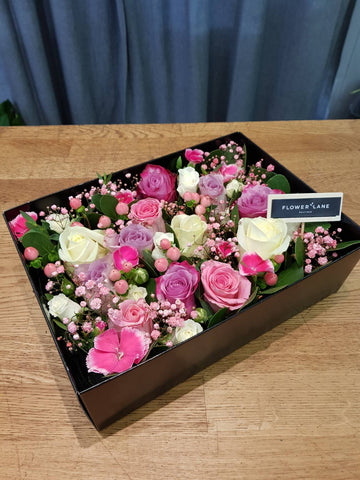 Romantic Pink Roses Box