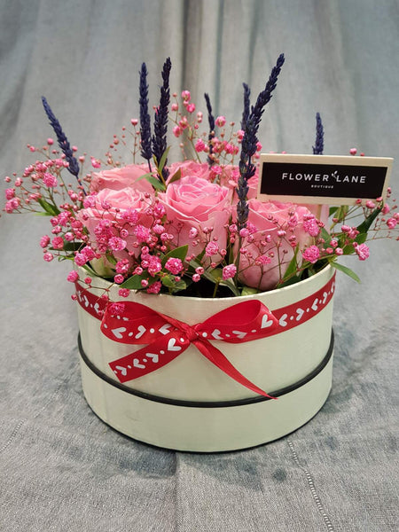 Pink Roses Hatbox