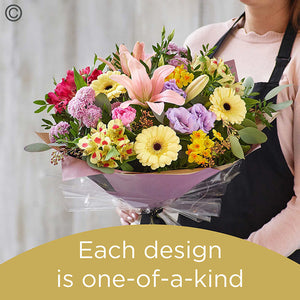 Spring hand-tied bouquet made with the finest flowers