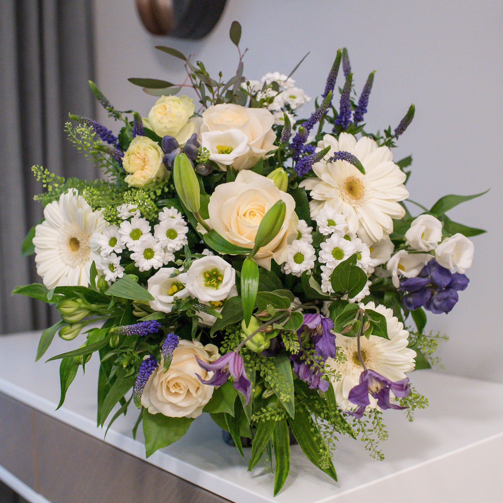 Hand-tied flower bouquet