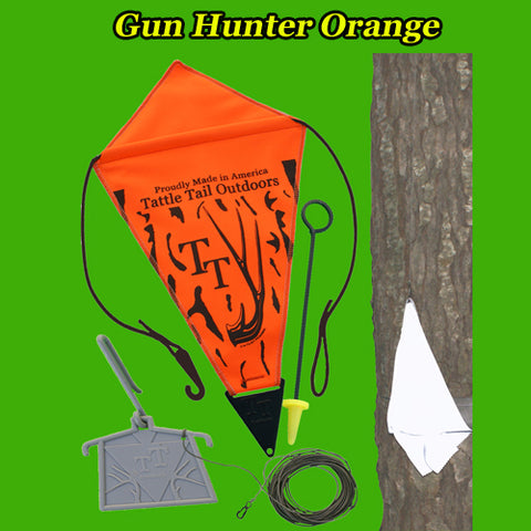 Gun Hunter Orange Deer Signaling Decoy
