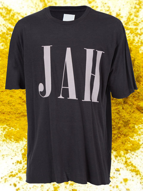 JAH SHORT SLEEVE TEE IN BLACK & PINK