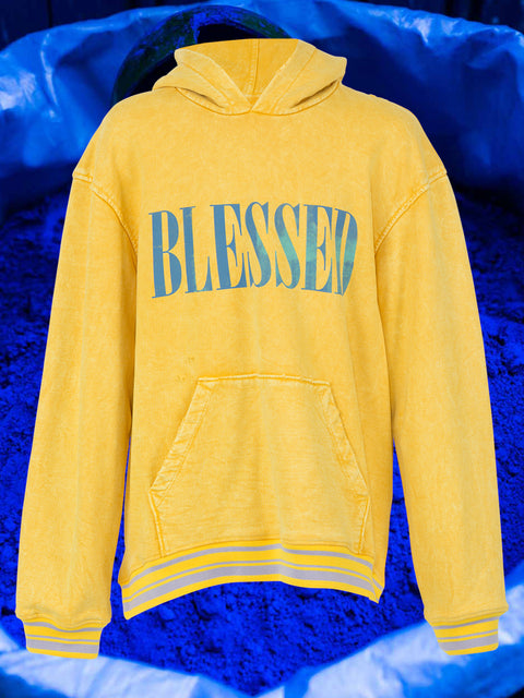 BLESSED HOODIE IN MIMOSA