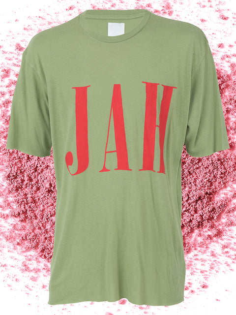 JAH SHORT SLEEVE TEE IN SAGE GREEN