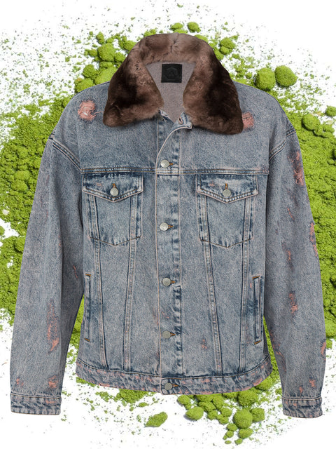 ROCKY JACKET WITH FUR IN BLOOMING DAHLIA