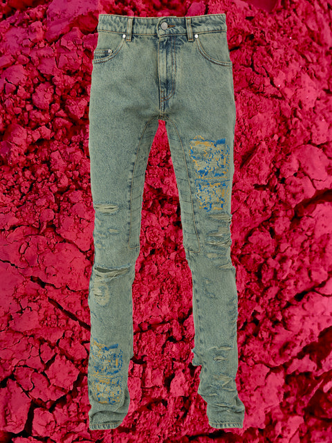 ACID RINGO JEAN IN SAGE