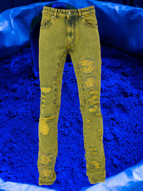 ACID RINGO JEAN IN MIMOSA