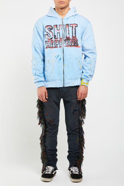 LAGOON PRINTED ZIP UP