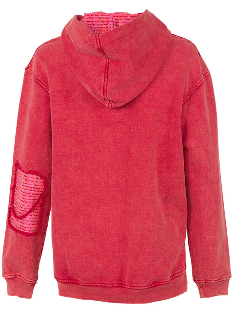COCO HOODIE IN ACID RED